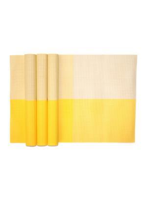 Плейсматы, 4 шт DiMi. Цвет: желтый