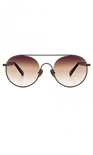 Солнцезащитные очки cellophane disco 01 WESTWARD LEANING. Цвет: черный