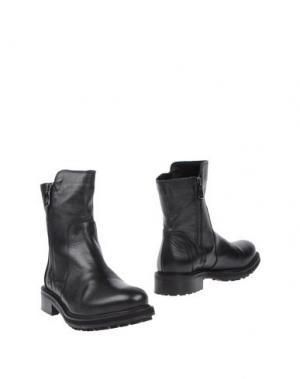Полусапоги и высокие ботинки KEB. Цвет: черный