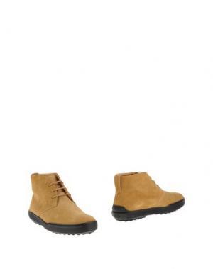 Полусапоги и высокие ботинки TOD'S. Цвет: песочный