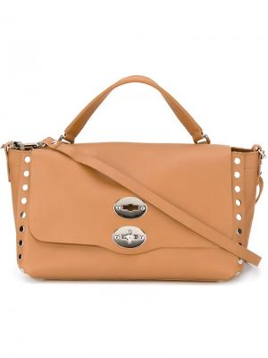 Маленькая сумка-сэтчел Postina Zanellato. Цвет: коричневый
