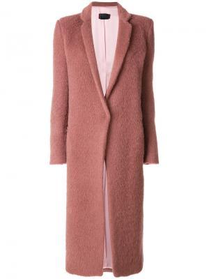 Свободное пальто Femme By Michele Rossi. Цвет: розовый и фиолетовый