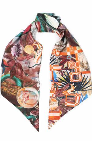 Шелковый платок с принтом Christian Lacroix. Цвет: коричневый