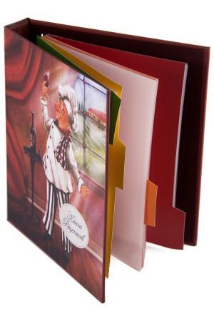 Книга для записи 18х23х4см Русские подарки. Цвет: красный, белый
