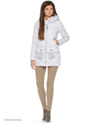 Куртка FREYA. Цвет: светло-серый