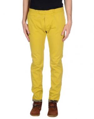 Повседневные брюки G2CHOICE. Цвет: желтый