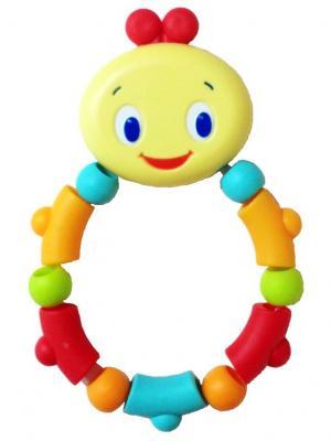 Развивающая игрушка - прорезыватель Гусеничка, оранжевая BRIGHT STARTS. Цвет: голубой, красный, светло-желтый