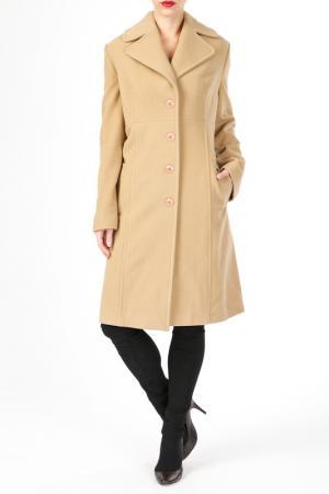 Пальто DONNA ENRICA. Цвет: бежевый