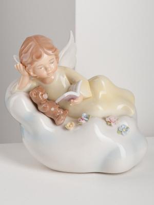Светильник Ангелочек Pavone. Цвет: белый (осн.), бежевый