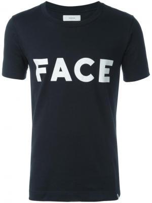Футболка с принтом Face Facetasm. Цвет: чёрный
