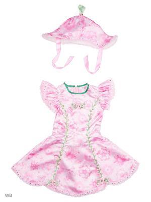 Карнавальный костюм Дюймовочка сказочная Батик. Цвет: белый, бледно-розовый