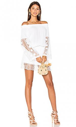 Платье lowri RAMY BROOK. Цвет: белый