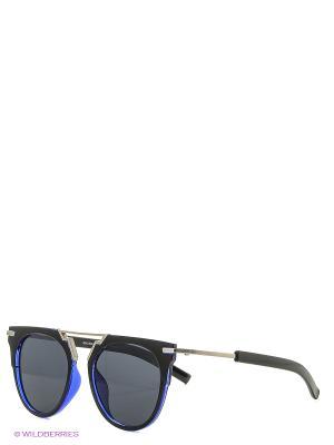 Солнцезащитные очки Vita pelle. Цвет: черный, синий