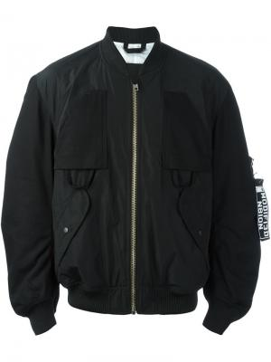 Куртка-бомбер Mechanic Liam Hodges. Цвет: чёрный