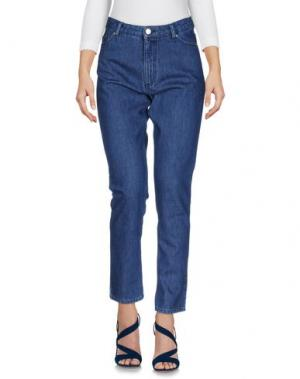 Джинсовые брюки MAISON KITSUNÉ. Цвет: синий