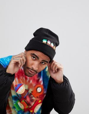 HUF Черная шапка-бини с логотипом x South Park. Цвет: черный
