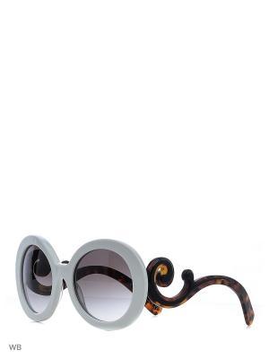 Очки солнцезащитные PRADA. Цвет: белый, коричневый