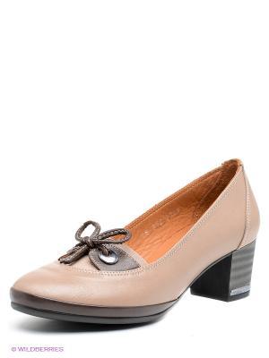 Туфли DAKKEM. Цвет: серо-коричневый