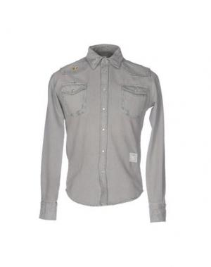Джинсовая рубашка THE EDITOR. Цвет: серый