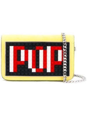 Маленькая сумка Pop Les Petits Joueurs. Цвет: жёлтый и оранжевый