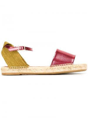 Сандалии на плетеной подошве Charlotte Olympia. Цвет: красный