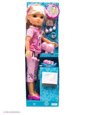 Кукла Нэнси и свинки Famosa. Цвет: розовый, голубой, бежевый