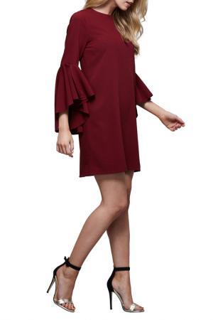 Платье Iska. Цвет: vinous