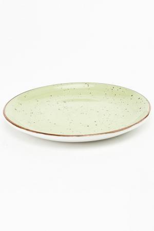 Тарелка мелкая круглая, 19 см CONTINENTAL. Цвет: зеленый