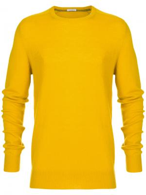 Свитер с круглым вырезом Paolo Pecora. Цвет: жёлтый и оранжевый