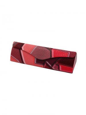 Футляр для очков Заплатки 13814F-8-C14 Germes. Цвет: бордовый, розовый, светло-коралловый