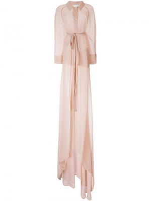 Свободное летнее пальто Antonio Berardi. Цвет: розовый и фиолетовый