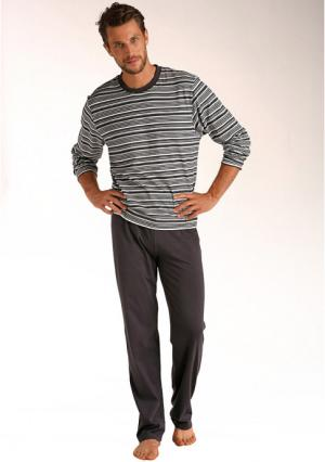 Пижама LE JOGGER. Цвет: темно-серый/кремовый