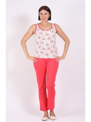 Пижама COTTONLAB. Цвет: розовый, белый