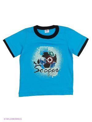 Футболка PEPELINO. Цвет: голубой, черный