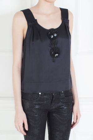 Шелковый топ Marc Jacobs. Цвет: черный