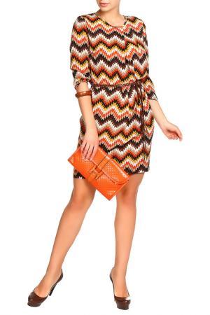 Платье с ремнем Mees. Цвет: коричневый