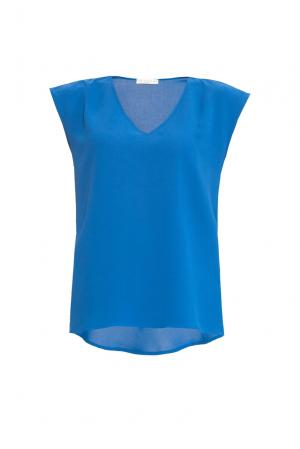Je Talene Блуза из вискозы и искусственного шелка 167826 T'alene. Цвет: синий