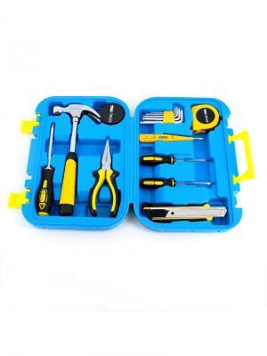 Набор из 15 инструментов в пластиковом кейсе Stinger. Цвет: черный, синий, серебристый, желтый