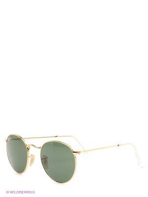 Очки солнцезащитные Ray Ban. Цвет: хаки, золотистый