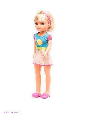 Кукла Нэнси с бабочкой на обруче и наклейками Famosa. Цвет: голубой, розовый