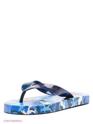 Шлепанцы Kakadu. Цвет: синий