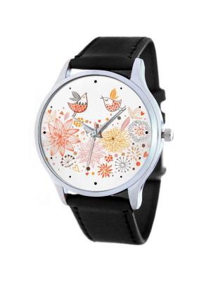 Дизайнерские часы Колибри Tina Bolotina. Цвет: красный, оранжевый, желтый
