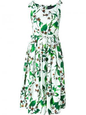 Платье Susan с цветочным принтом Samantha Sung. Цвет: белый