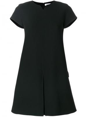 Расклешенное платье мини Courrèges. Цвет: чёрный