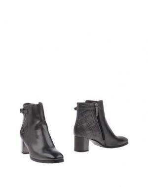 Полусапоги и высокие ботинки CALPIERRE. Цвет: стальной серый