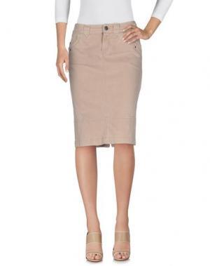 Джинсовая юбка SPORTMAX CODE. Цвет: песочный