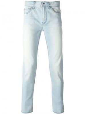 Узкие джинсы Blk Dnm. Цвет: синий
