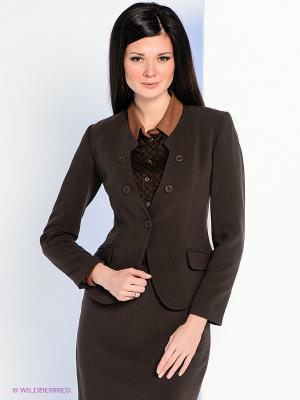 Жакет Personage. Цвет: темно-коричневый