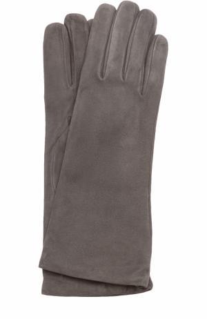 Замшевые перчатки Sermoneta Gloves. Цвет: темно-серый