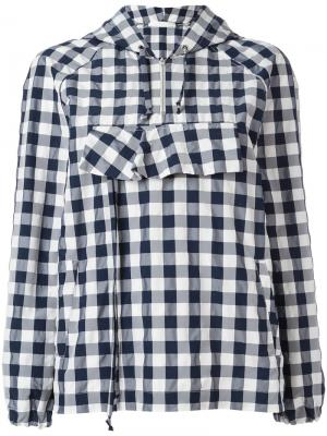 Анорак Gingham Peter Jensen. Цвет: синий